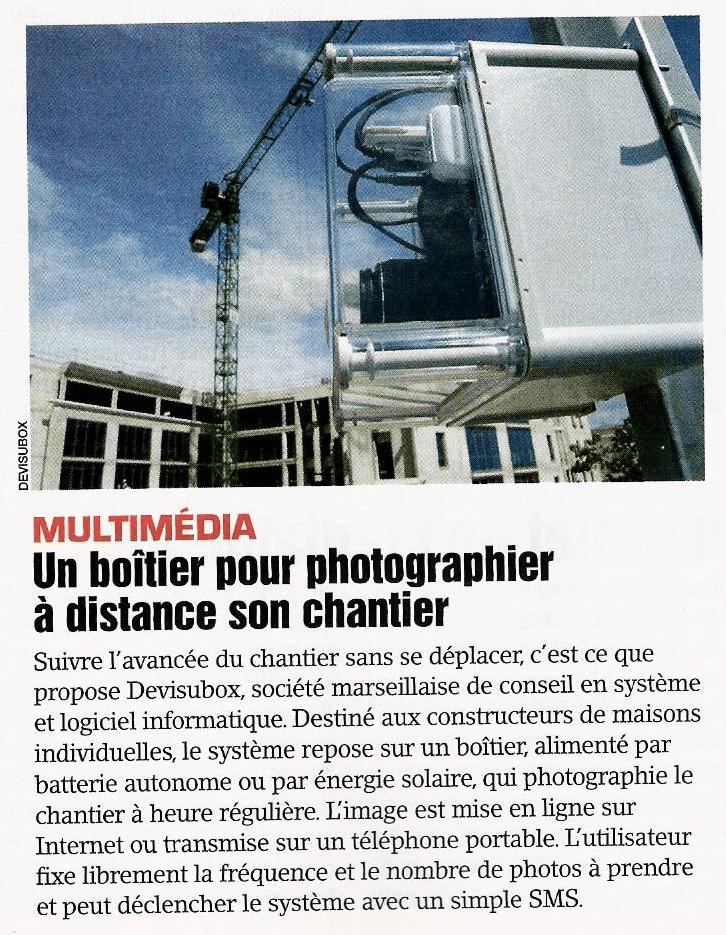 Article de presse Devisubox - Le mointeur - 15 aout 2008