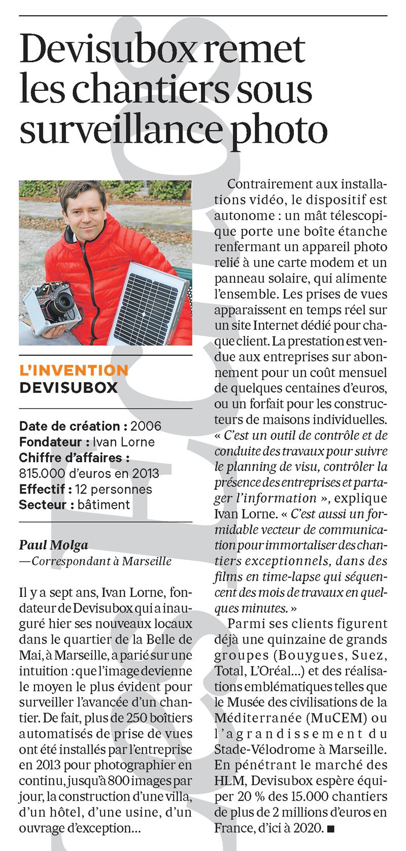Interview Ivan LORNE Les Echos