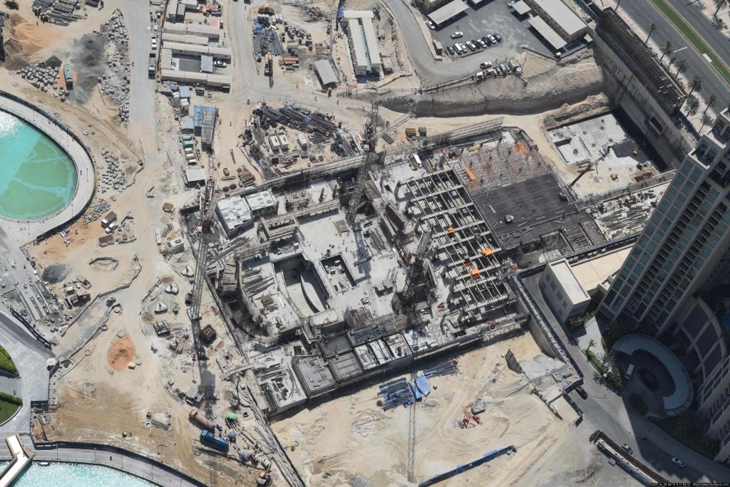 Suivi Devisubox de la construction de l'Opéra de Dubai depuis la tour Khalifa